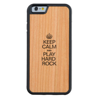 KEEP CALM AND PLAY HARD ROCK CARVED® CHERRY iPhone 6 BUMPER CASE