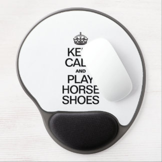 KEEP CALM AND PLAY HORSE SHOES GEL MOUSE MATS
