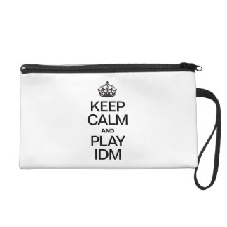 KEEP CALM AND PLAY IDM WRISTLET CLUTCHES