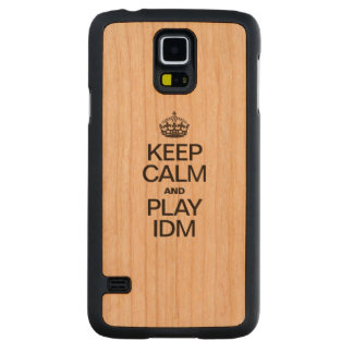 KEEP CALM AND PLAY IDM CARVED® CHERRY GALAXY S5 SLIM CASE