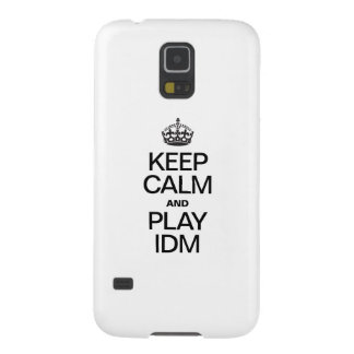 KEEP CALM AND PLAY IDM GALAXY S5 COVERS