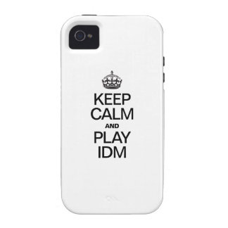 KEEP CALM AND PLAY IDM iPhone 4 CASE