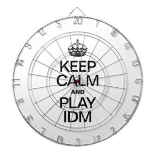 KEEP CALM AND PLAY IDM DART BOARD