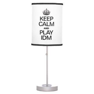 KEEP CALM AND PLAY IDM DESK LAMP