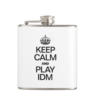 KEEP CALM AND PLAY IDM FLASKS