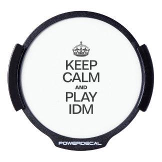 KEEP CALM AND PLAY IDM LED CAR DECAL
