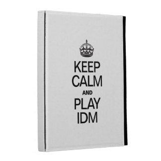 KEEP CALM AND PLAY IDM iPad CASE