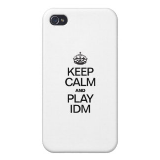 KEEP CALM AND PLAY IDM iPhone 4 COVERS