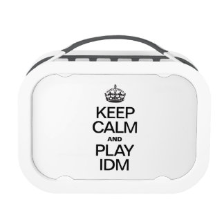 KEEP CALM AND PLAY IDM LUNCH BOXES