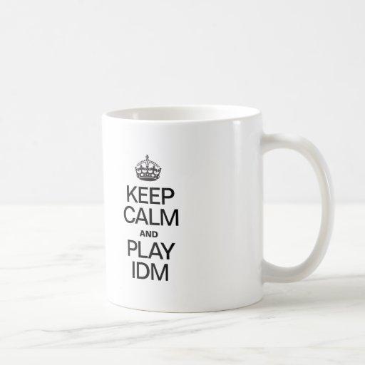 KEEP CALM AND PLAY IDM MUGS
