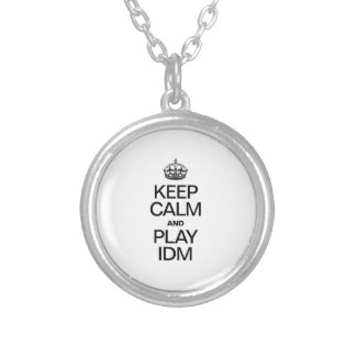 KEEP CALM AND PLAY IDM ROUND PENDANT NECKLACE