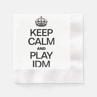 KEEP CALM AND PLAY IDM DISPOSABLE NAPKIN
