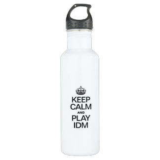 KEEP CALM AND PLAY IDM 24OZ WATER BOTTLE