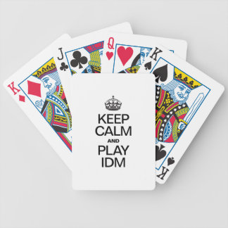 KEEP CALM AND PLAY IDM PLAYING CARDS