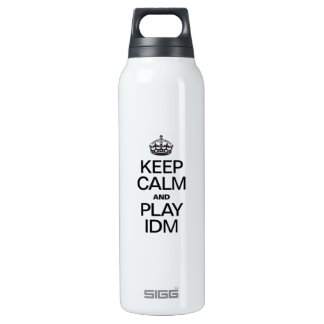 KEEP CALM AND PLAY IDM SIGG THERMO 0.5L INSULATED BOTTLE