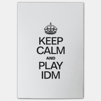 KEEP CALM AND PLAY IDM POST-IT® NOTES