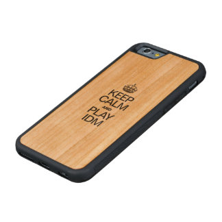 KEEP CALM AND PLAY IDM CARVED® CHERRY iPhone 6 BUMPER