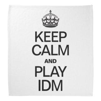 KEEP CALM AND PLAY IDM BANDANA