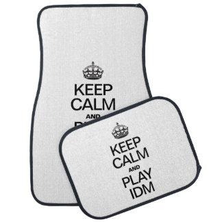 KEEP CALM AND PLAY IDM FLOOR MAT