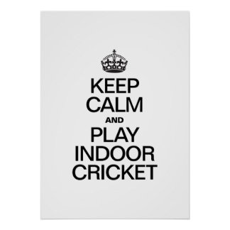 KEEP CALM AND PLAY INDOOR CRICKET POSTERS