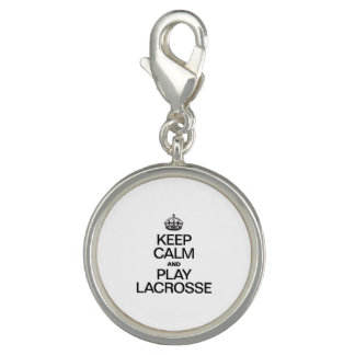 KEEP CALM AND PLAY LACROSSE CHARMS