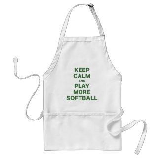 Keep Calm and Play More Softball Adult Apron