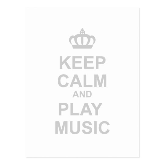 Keep Calm And Play Music - Rock Band Party Dance Postcard