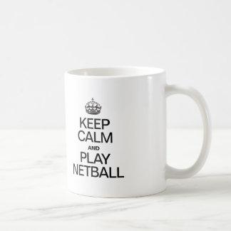 KEEP CALM AND PLAY NETBALL COFFEE MUG