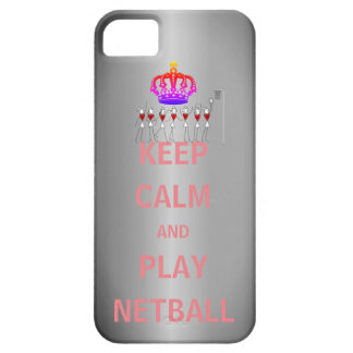Keep Calm and Play Netball Quote and Positions iPhone 5 Cover