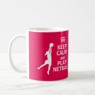 Keep Calm and Play Netball Quote Coffee Mug