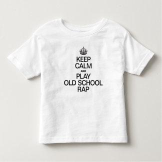 KEEP CALM AND PLAY OLD SCHOOL RAP SHIRT