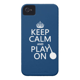 Keep Calm and Play On (Banjo)(any bckgrd color) iPhone 4 Cover
