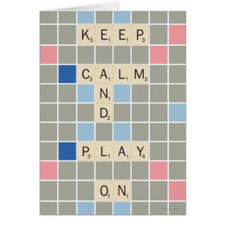 Keep Calm And Play On Card