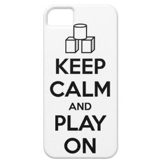 Keep Calm And Play On iPhone 5 Cases