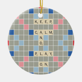 Keep Calm And Play On Ceramic Ornament