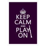 Keep Calm and Play On (clarinet) (any colour) Poster
