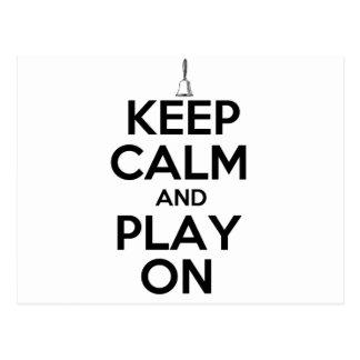 Keep Calm and Play On Handbells Postcard
