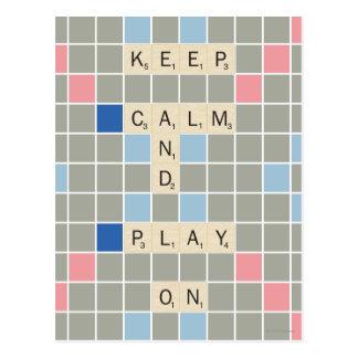Keep Calm And Play On Postcard