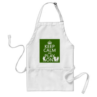 Keep Calm and Play On (stringed instruments) Standard Apron