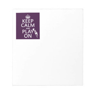 Keep Calm and Play On (trumpet) (all colors) Notepad