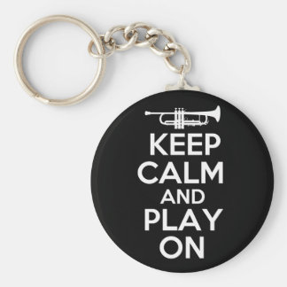 Keep Calm and Play On (Trumpet) Keychain