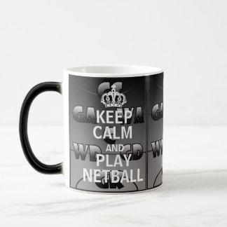 Keep Calm and Play Quote Netball Positions Magic Mug
