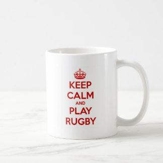 Keep Calm And Play Rugby Coffee Mug