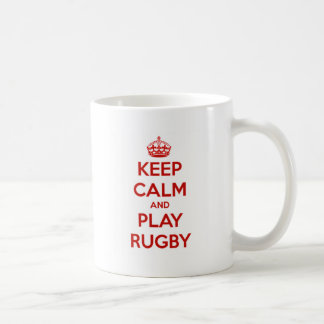 Keep Calm And Play Rugby Coffee Mug