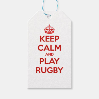 Keep Calm And Play Rugby Pack Of Gift Tags