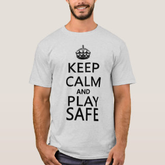Keep Calm and Play Safe Snooker T-shirt
