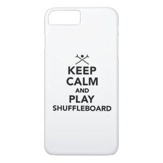 Keep calm and play Shuffleboard iPhone 7 Plus Case