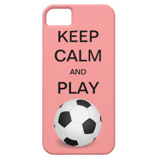 KEEP CALM AND PLAY SOCCER CaseMate iPhone 5 Case