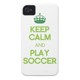 Keep Calm And Play Soccer (Green) iPhone 4 Case