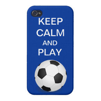 Keep Calm and Play Soccer iPhone 4 iPhone 4/4S Cover